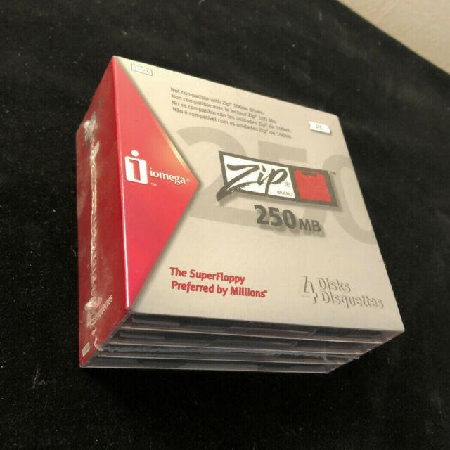 Iomega ZIP Disks 4-pack 250 MB