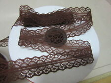 10-yard 1658 coffee lace ribbons DIY clothing accessories decoration