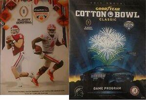 2015-2016-Orange-Coton-Bol-Programmes-Clemson-Alabama-College-Football-EA