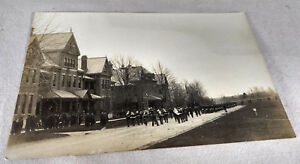 RPPC-Postcard-Marching-Band-Military-Parade-Old-Antique-VTG