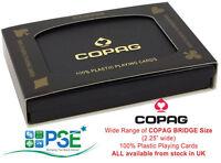 COPAG PLAYING CARDS BRIDGE SIZE JUMBO REGULAR 100% PLASTIC RARE DESIGNS UK STOCK
