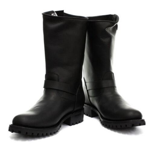 Engineer Western Black Buckle Boots Grinders Mens Combat Leather Biker x7qEOzEw