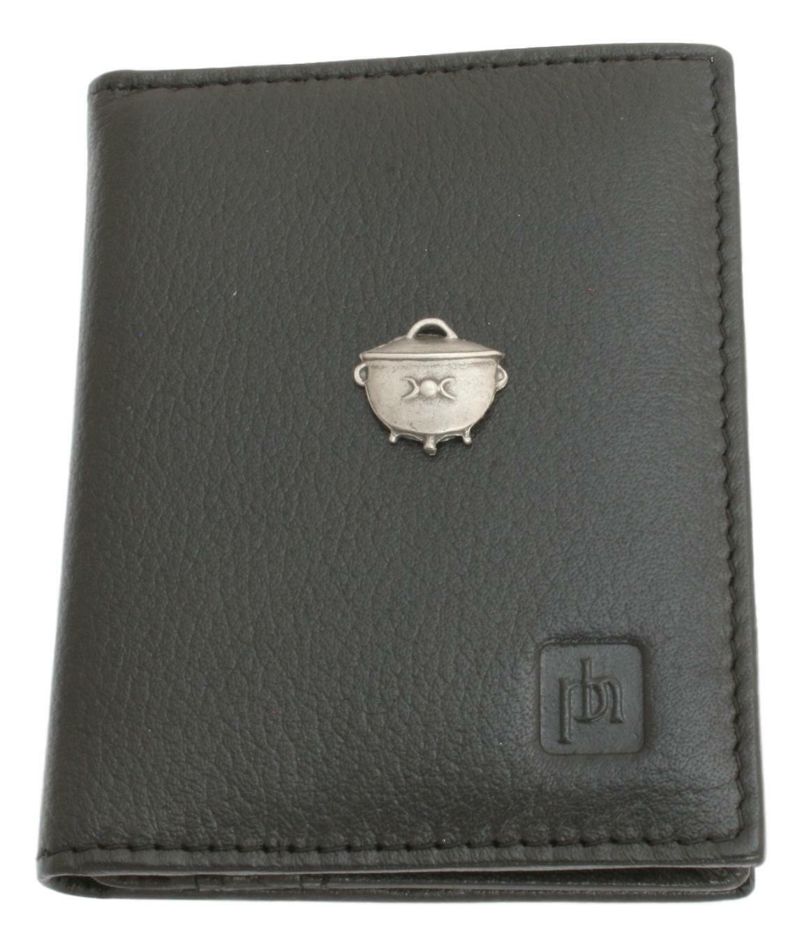 Cauldron Bifold Card Holder Leather Black Wallet RFID Safe 409
