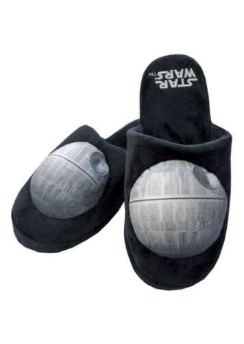 STAR WARS DEATH STAR MENS PLUSH SLIPPERS UK SIZE 8-10 OFFICIAL