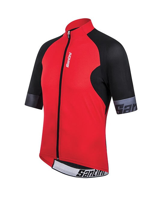 Cool Zero Cycling Jersey in Red. Made in Italy by Santini
