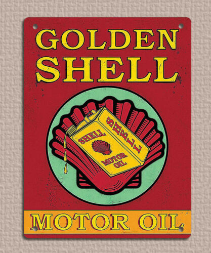 Metal sign plaque vintage retro style Shell Norton oil garage rules 20x15cm