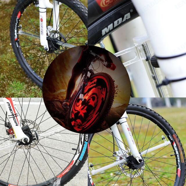 Programmable RGB 192LED DIY Car Color MTB Bicycle Wheel Tire Spoke Light Rainbow