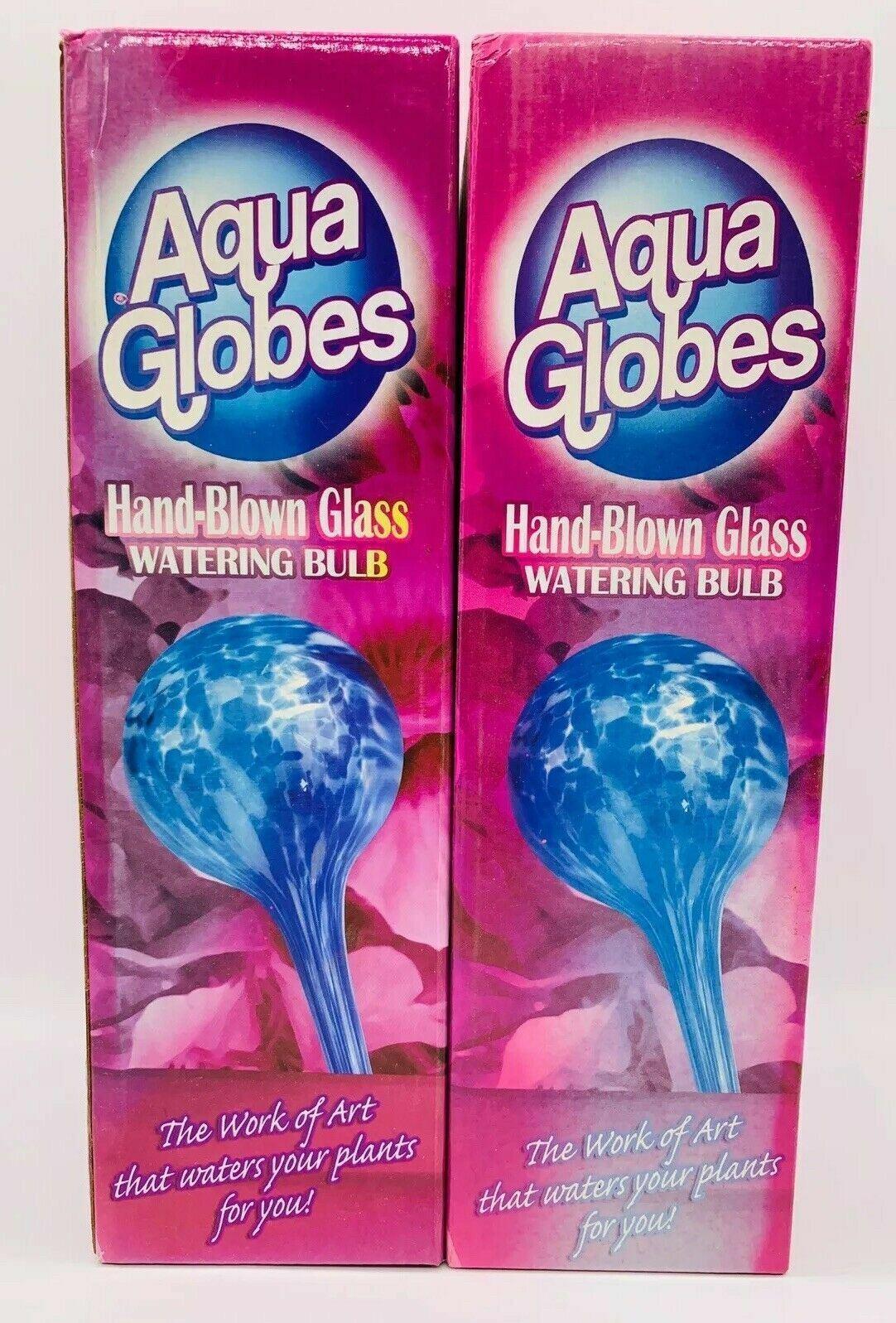 Set of 2 Aqua Globes 11