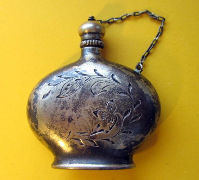 Russia USSR Vintage Silver Perfume Bottles 875''