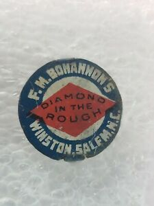 Diamond-In-The-Rough-Chewing-Tobacco-Tag-F-M-Bohannon-Winston-Salem-NC-vintage