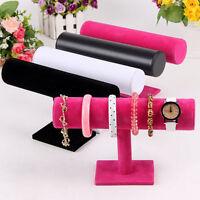 Velvet Jewelry Rack Bracelet Necklace Stand Organizer Holder Display 3 Colors
