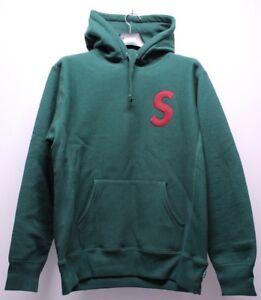 3bd79c5fb4aa Supreme S Logo Hooded Green Red Hoodie Sweatshirt Men s Size Large ...