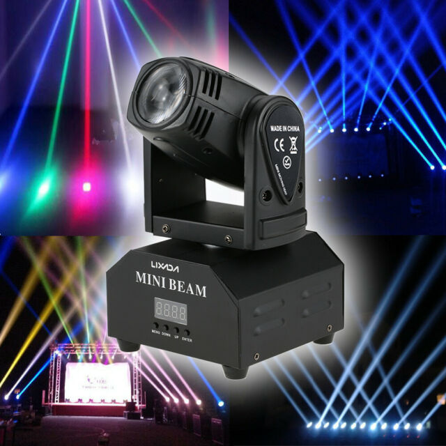 5* Lixada LED Stage Effect Lamp Total 50W Rotating Moving Head DMX512 11/13  C4O6