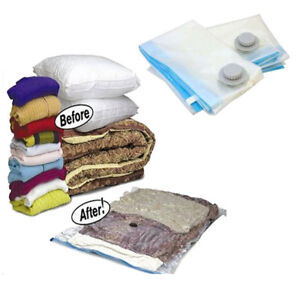 Image is loading Vacuum-Storage-Bags-Space-Saving-Seal-Clothes-&-  sc 1 st  eBay & Details about Vacuum Storage Bags - Space Saving Seal Clothes u0026 Bedding 55x85 100x70 - 10 Pack