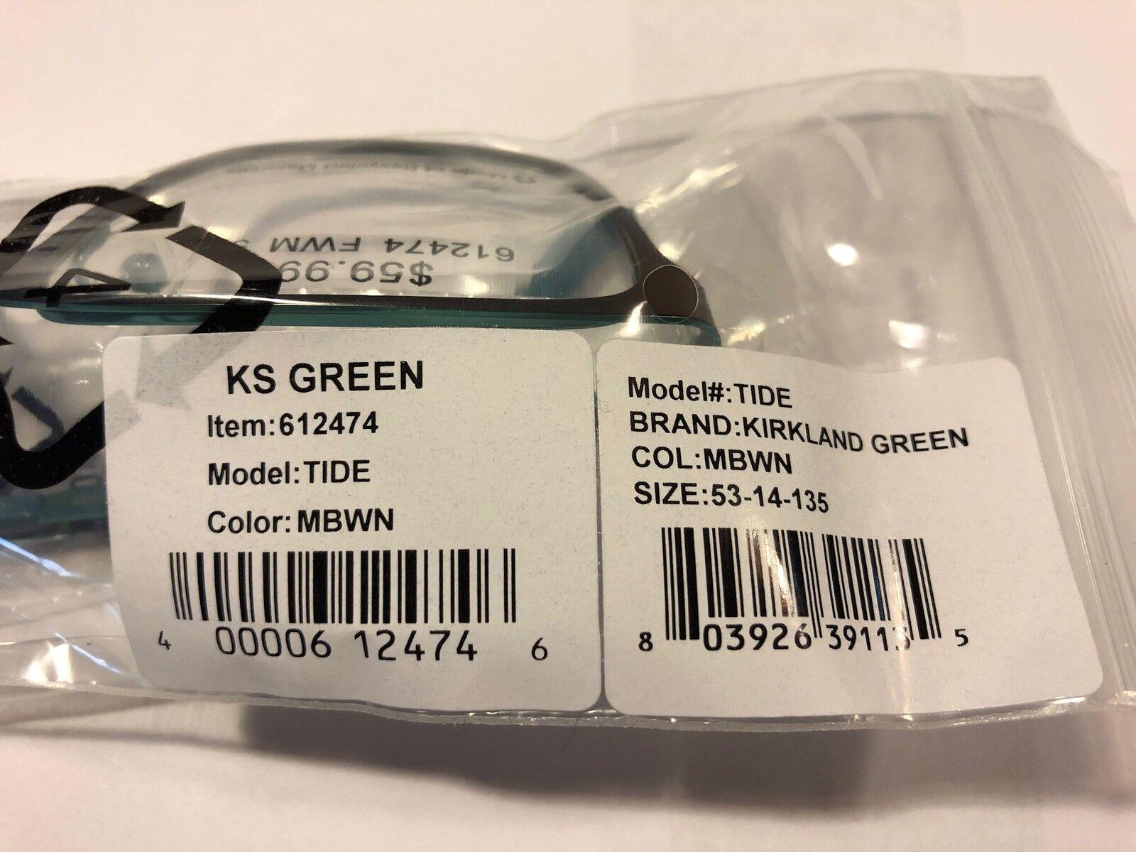 9133a98211f Kirkland Frame Green Glasses Tide 53-14-135 Frames 612474 for sale online