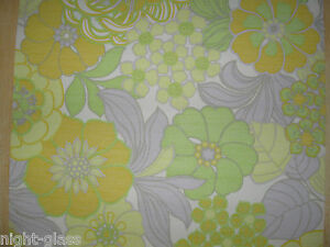 1 Rouleau De Papier Peint Ancien Tapisserie Murale/vintage Roll Wallpaper/n°202 Art De La Broderie Traditionnelle Exquise