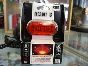 CATEYE OMNI 3--3 LED BICYCLE FRONT AND REAR SAFETY LIGHTSET