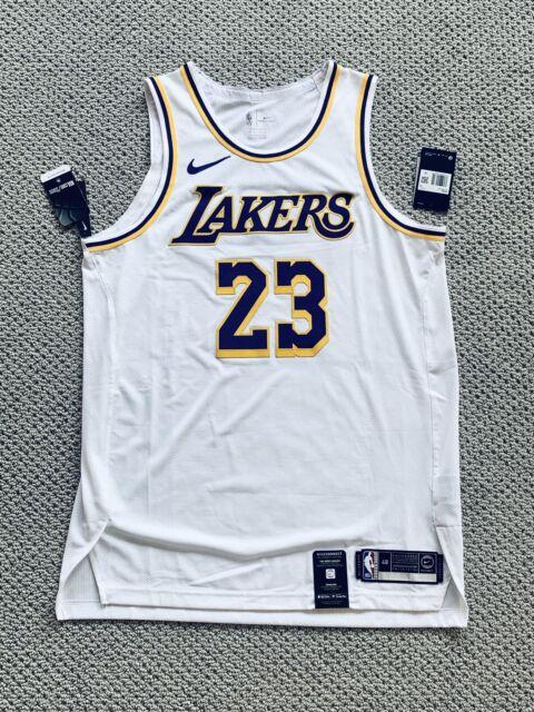 Authentic Nike Lakers Lebron James Association Jersey Sz 48 L