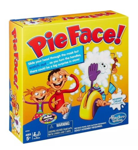 Pie Face Fun Filled Family Game of Suspense By Hasbro New FREE FAST SHIPPING