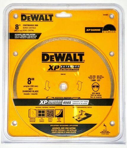 """DEWALT DW4767L 8/"""" Continuous Rim Diamond Ceramic Tile Blade"""