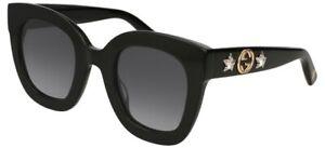NEW-Gucci-GG-0208S-Sunglasses-001-Black-100-AUTHENTIC
