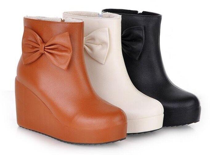 Botines botas zapatos 9 de mujer de cuña 9 zapatos cm mode como piel cómodo caldi 9066 e51cf8