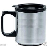 Home Travel Mug Reusable Plastic Coffee Cup Double Wall Tea Tumbler Office 8 oz