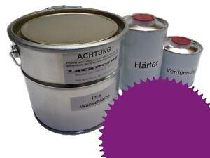 3 Liter Set 2K Floor Color Floor Ral 4008 Vinyl-Epoxid-Lack Lackpoint Shine