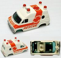1976-78 Aurora Afx 4-gear Dodge Van Rescue Vehicle Slot Car Body-only 1937 Wh/or