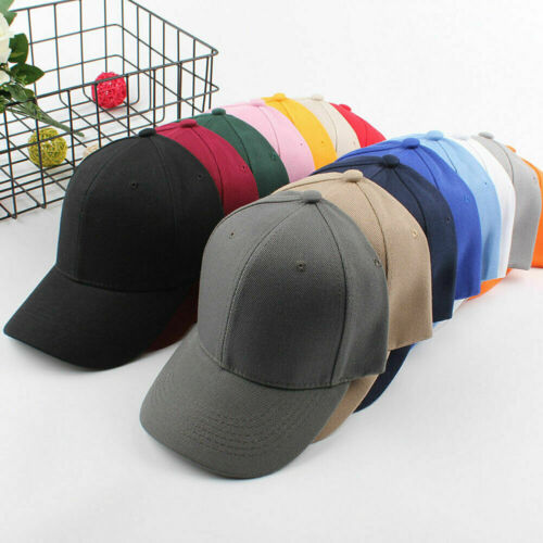 Unisex Men Women Black Baseball Cap Snapback Hat Hip-Hop Adjustable Bboy Caps