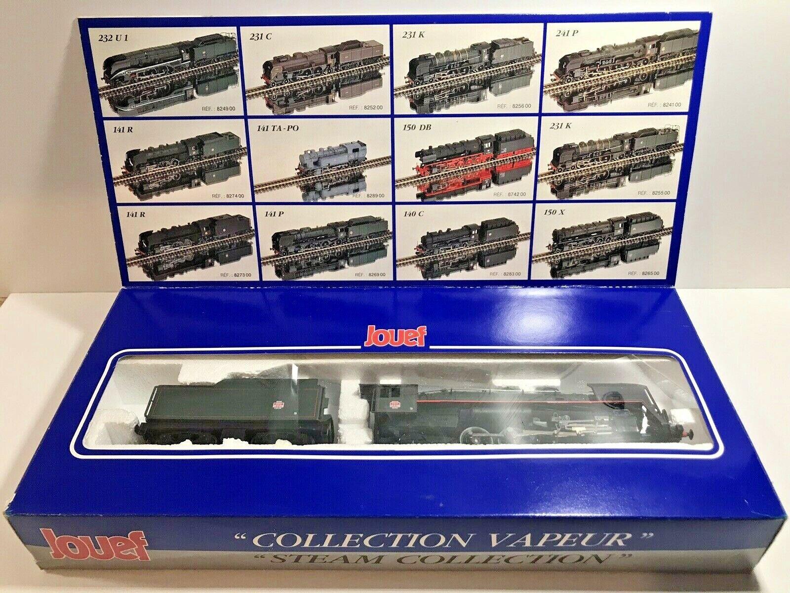 Jouef 827400 - Locomotive à Vapeur 141 R 416 tender 30 R 416 Reims HO, état neuf