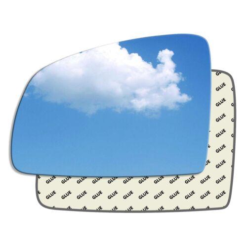 SINISTRO Lato Passeggero ala specchio vetro OPEL MERIVA Mk1 a 2002-2010 21LS