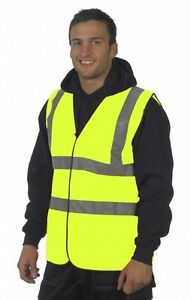 Hi-viz-Yellow-Vest-High-Vis-Visibility-Work-Bike-Horse-Reflective-Jacket-EN471
