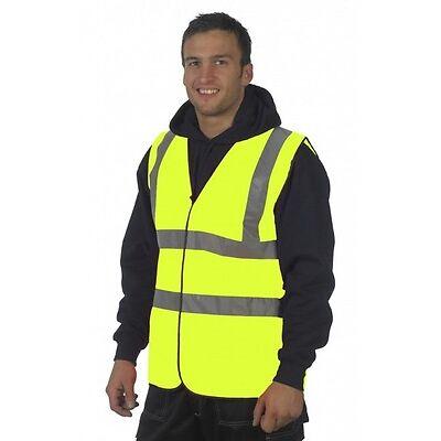 Yellow Hi Vis High Viz Visibility Safety Vest Waistcoat Jacket Safety EN471