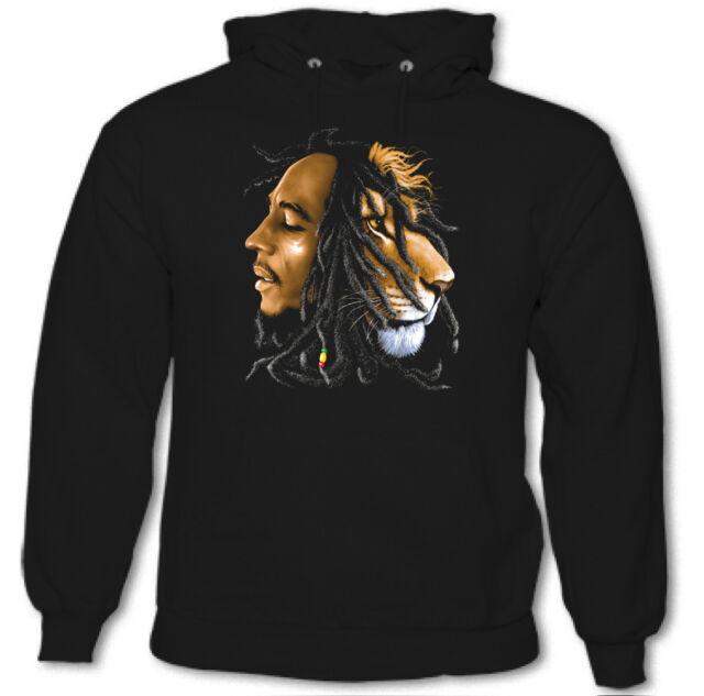 scomparire Proposta Adempiere  Bob Marley Felpa con Cappuccio Ferro Leone Zion Musica Rasta Reggae  Rastafariano | eBay