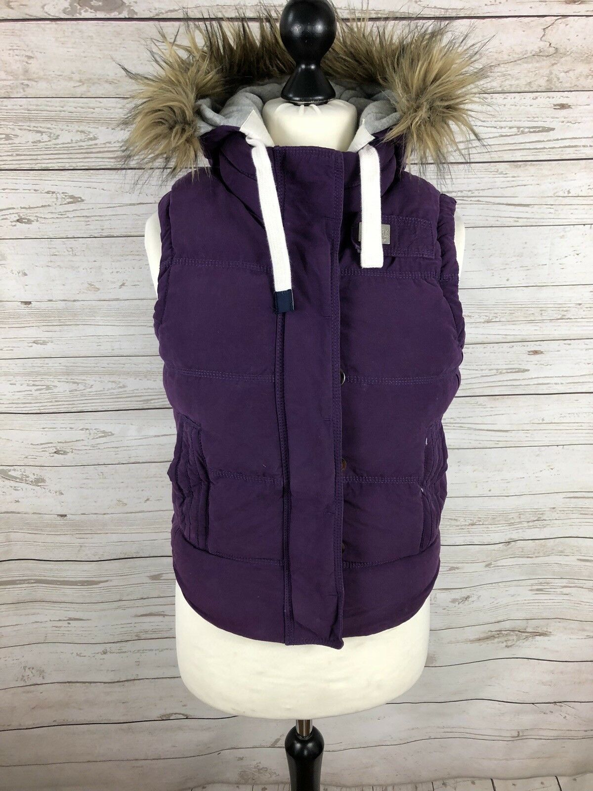 SUPERDRY Quilted Quilted Quilted Gilet Bodywarmer - Small - Purple - Great Condition - Women's c63bc7