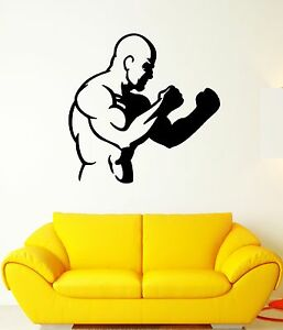Vinyl Wall Decal Boxing Gloves Champions Sports Fighting Decor Stickers ig5082