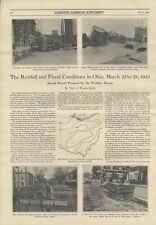 1913 Dayton Ohio Floods History Hamilton Miami County Photos Vintage Article Old