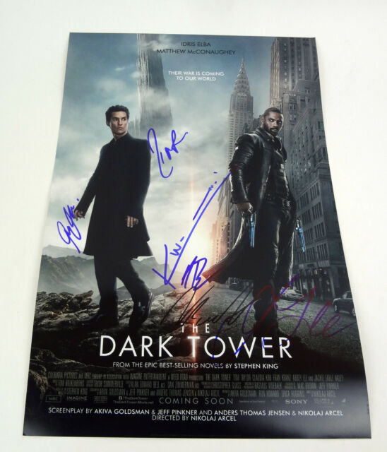 The Dark Tower Stephen King Cast Idris Elba Signed Autograph Movie Poster COA