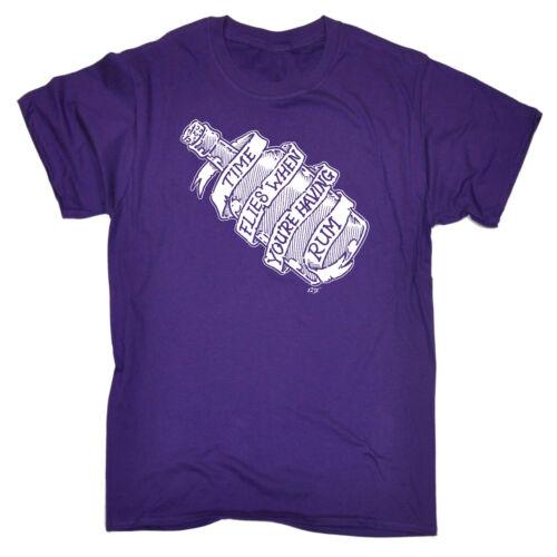 Divertenti Novità T-shirt Da Uomo T-Shirt Tee-Time MOSCHE quando la tua avendo Rum