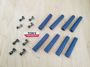 8mm Taylor Ignition Spark Plug Boots /& Terminals 90 degree right angle USA Set 8