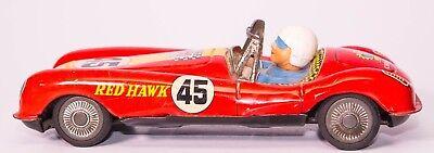 Selbstlos Vintage Blech Litho Yonezawa Rot Hawk #45 Rennwagen Autos & Lkw Spielzeug