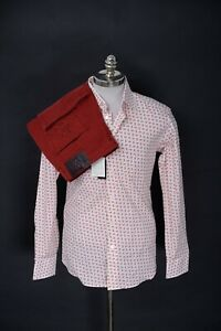 2pc-Outfit-Lot-BRIONI-White-Red-VHS-Shirt-XL-ZILLI-Red-Slim-Fit-Denim-Jeans-38