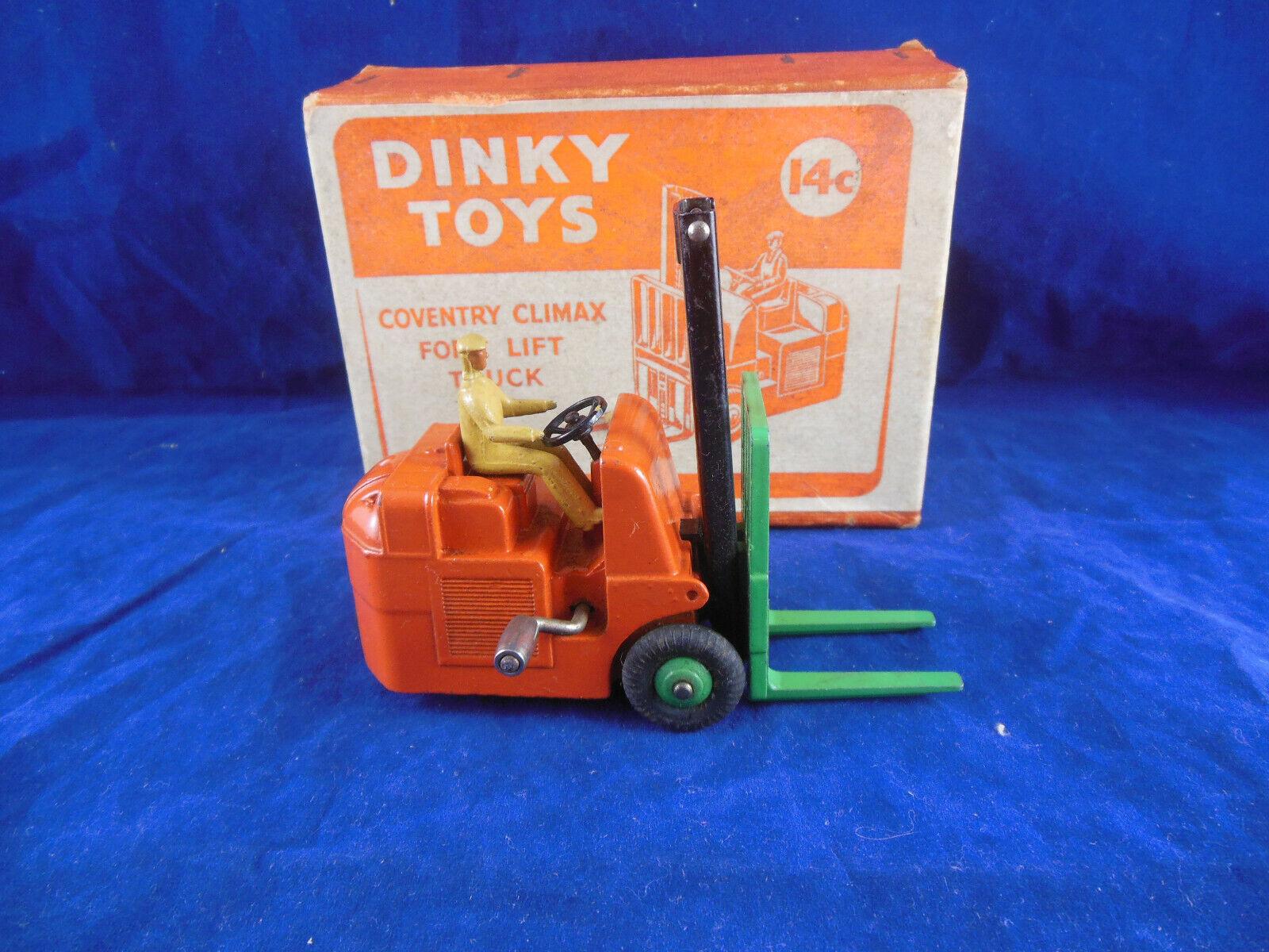 Dinky Toys Ref 14c Coventry Climax Montacargas Original & Excelente Década de 1950
