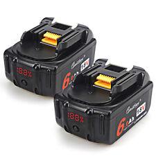 2x BL1860 6.0ah 18v battery for Makita 18v BL1830 with LED indicator Li-ion 6ah