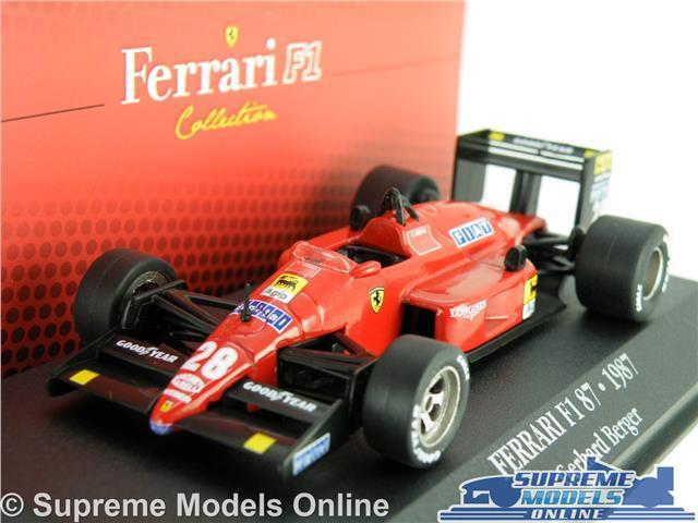 FERRARI F1 87 MODEL CAR 1 43 SCALE IXO ATLAS COLLECTION GERHARD BERGER 7174022 K