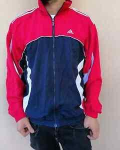 Dettagli su VINTAGE 90s maglia Adidas hoddies felpa sweatshirt maglione uomo M ROSSA anni 90