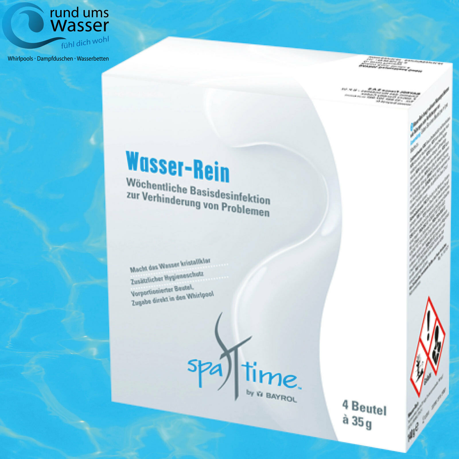 Bayrol SpaTime Whirlpool Wasser Rein Rein Rein 4 x 35 g Spa Time Pool Pflege Wasserrein aa5be1
