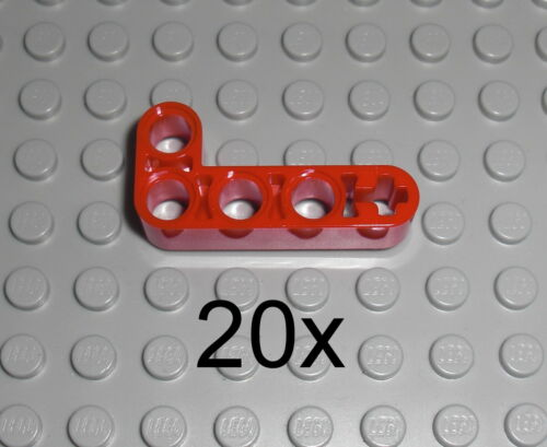 LEGO Technic 20x Lochbalken Lochstange Liftarm Winkel 2x4 rot red bent 32140