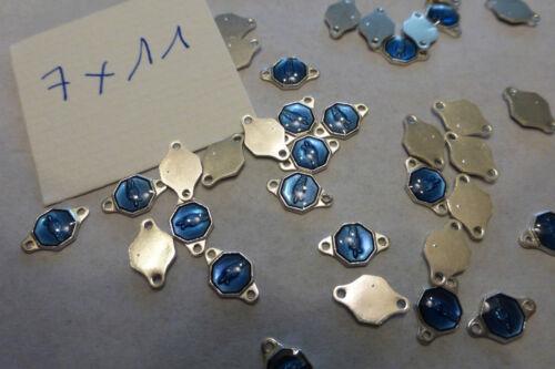lot 40 connecteur perle fab bijou  métal enfant émail bleu saint ????...4 €